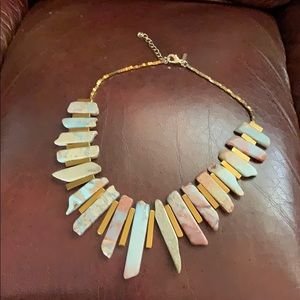 Agate Stick Collar Necklace